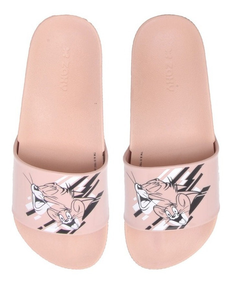 Chinelo Slide Zaxy Warner Tom & Jerry, Piu Piu E Frajola