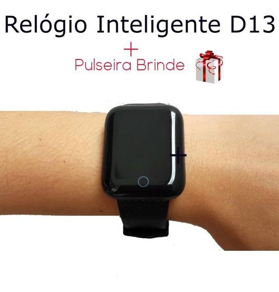Relógio Inteligente D13 + Pulseira Brinde