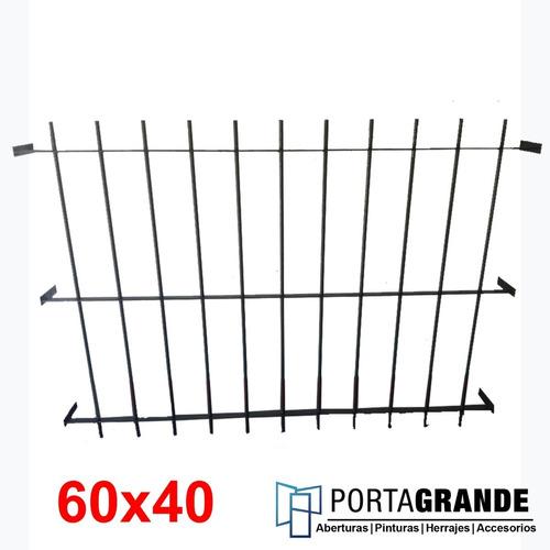 Imagen 1 de 3 de Reja Para Ventana 60x40 Barrote Hierro Del 12