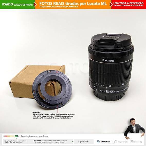 Adaptador Ef/efs + Lente Canon Efs 18-55mm 3.5~5.6 Is Stm 2a