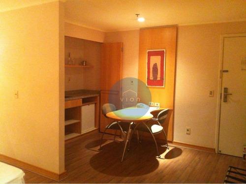 Imagem 1 de 11 de Flat Com 1 Dormitório À Venda, 33 M² Por R$ 400.000,00 - Moema - São Paulo/sp - Fl0004