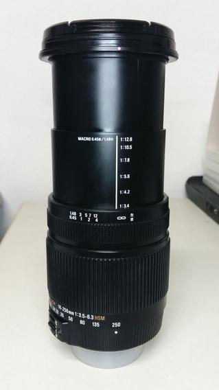 Lente Sigma 18-250mm 3.5-.6.3 Hsm Dc Os Macro Para Nikon Dx