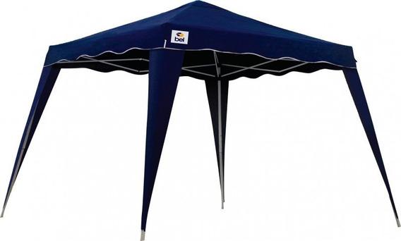 Tenda Gazebo Alumínio Sanfonada 3x3m Azul Belfix 12x S/juros