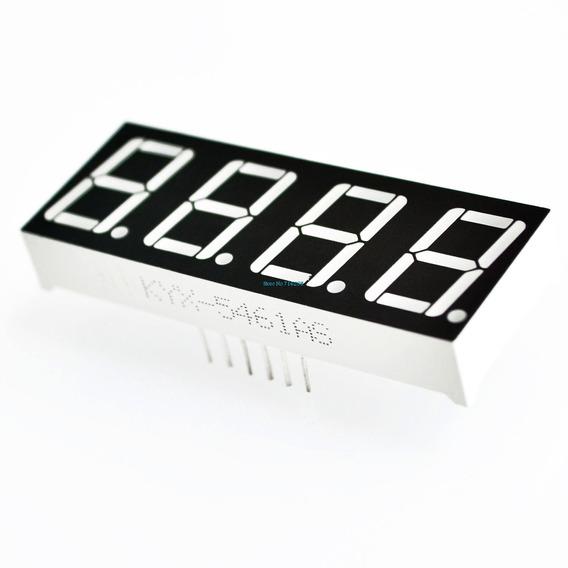 Display 7 Segmentos 4 Dígitos Vermelho Catodo Comum Arduino
