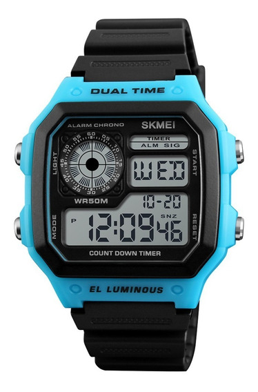 Relógio Digital Skmei Masculino Ou Feminino Mod. 1299 Barato