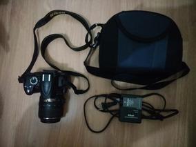 Câmera Dsrl Nikon D3000 Usada + Lente 18-55mm + Case