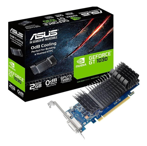 Placa De Video Asus Geforce Gt 1030 2gb Low Profile Hdmi Dvi