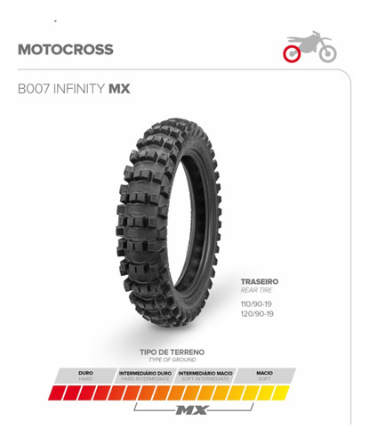 Cubierta Motocross Borilli 120-90-19 Crf450