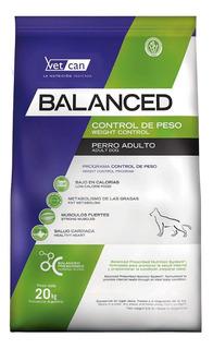 Alimento Vitalcan Balanced Control de Peso perro adulto todos los tamaños mix 20kg