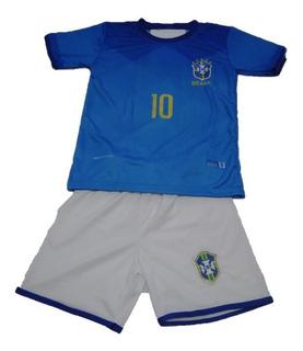 Uniforme Infantil Seleção Brasileira Neymar 10