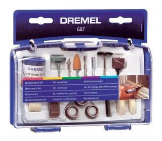 Kit Multiuso Dremel 687 Para Mini Torno Caja 52 Accesorios