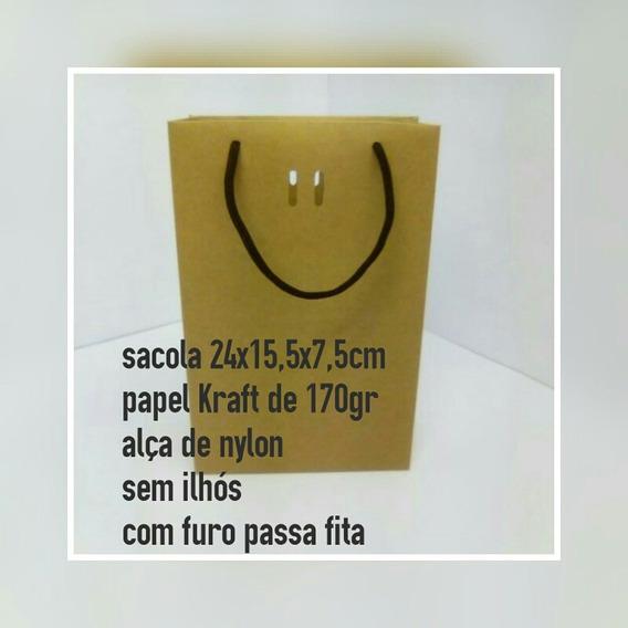 Sacola Kraft 24x15,5x7,5 Cx Com 40 Unidades