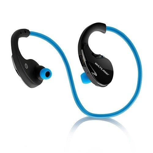 Novo Fone De Ouvido Earphone Bluetooth Azul Esporte Ph182