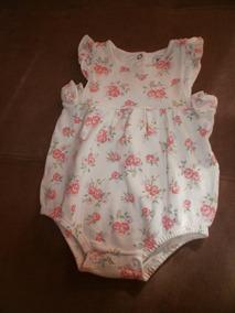 Body Bebê Menina, Florido, Tamanho 3 A 6 Meses - Usado
