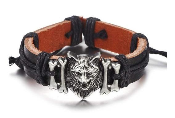Brazalete Para Hombre Cabeza De Lobo Ethnyc Style P-114