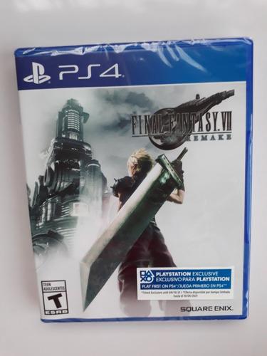 Final Fantasy Vii 7 Remake Ps4 Nuevo Y Sellado