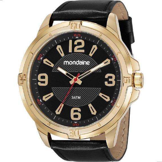 Presente Para Homem Relógio Mondaine Dourado Couro Original