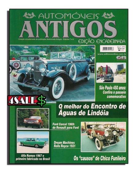 Revista Automóveis Carro Antigos Edição - Rara