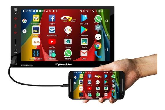 Central Multimídia Pajero Tr4 Bt Espelha Ios Android + Câm