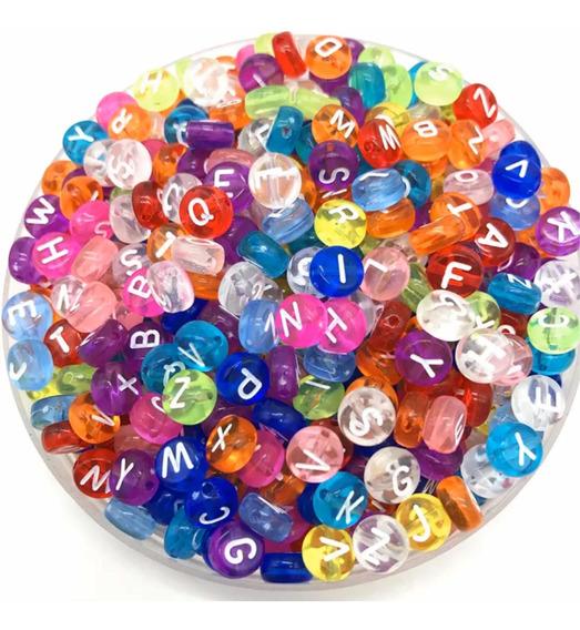 Letras Para Bisutería Color Jelly 100 Piezas Envío Gratis
