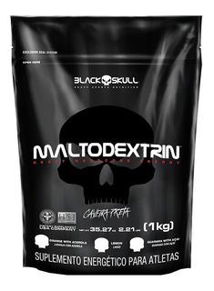 Maltodextrina 1kg - Caveira Preta - Black Skull