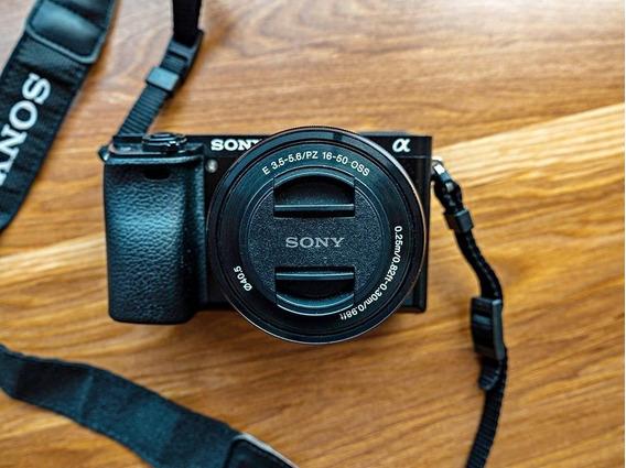 Sony A6000 + Lente + Carregador + Bolsa + Cartão De Memoria