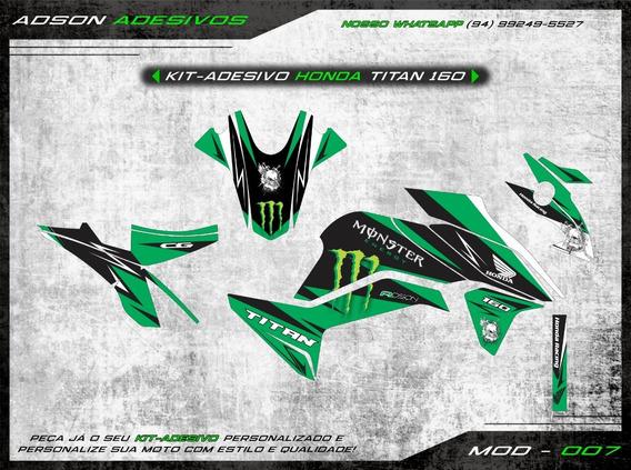 Kit Adesivo Honda Cg Titan 160 Kit Gráfico Monster