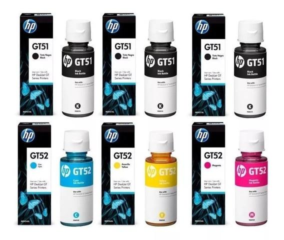 Kit 6 Refil De Tinta Hp Gt51 Gt52 Original Hp Deskjet Gt5822