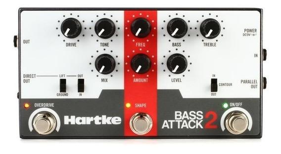 Pedal Hartke Attack 2 P/ Baixo Preamp/direct Box Overdrive