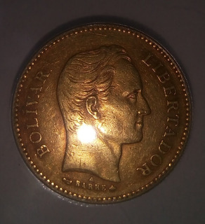 Moneda De Oro Colección Antigua 5 Venezolanos 1875