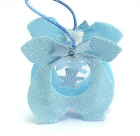Lembrancinha Sacolinha Cor Azul Bebe 81x72x22