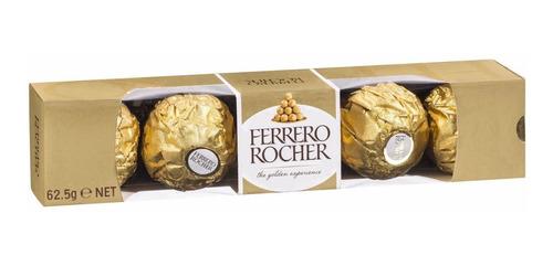 Ferrero Rocher Chocolates X5 Unidades Forma Tubo