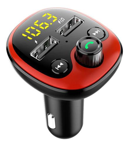 Imagen 1 de 12 de Adaptador Bluetooth Auxiliar Para Coche Rojo