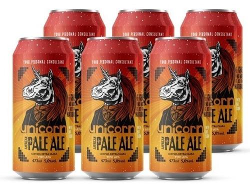 Cerveja Unicorn American Pale Ale Caixa C/ 6 Latas 473 Ml