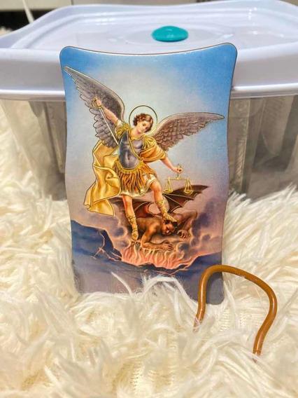 Cuadro San Arcangel Miguel Angel 7x11cm Fars Souvenirs