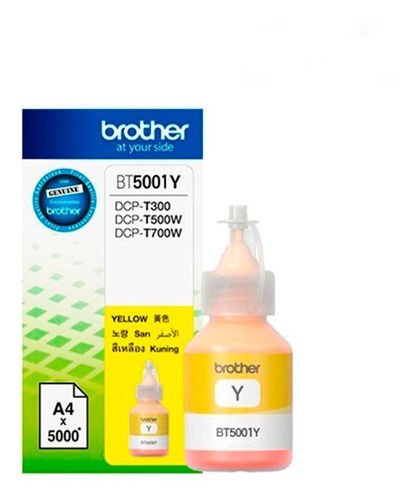 Tinta Brother Yellow 50ml Dcp-t300, Dcp-t500w, Dcp-t700w