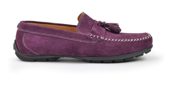 Zapatos Mocasines De Hombre De Gamuzon Till - Ferraro -