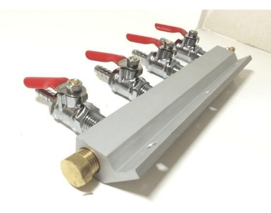 Distribuidor Co2 Para Choopera (4 Lineas)