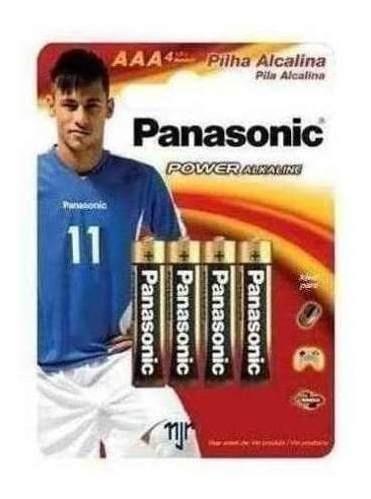 Pilha Panasonic Alcalina Palito Aaa Com 4 Unidades 27616