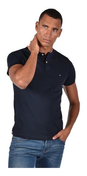 Tommy Hilfiger Polo Para Hombre Azul Mod Mw0mw10793-403