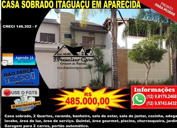 Casa A Venda No Bairro Itaguaçu Em Aparecida - Sp. - Cs052-1
