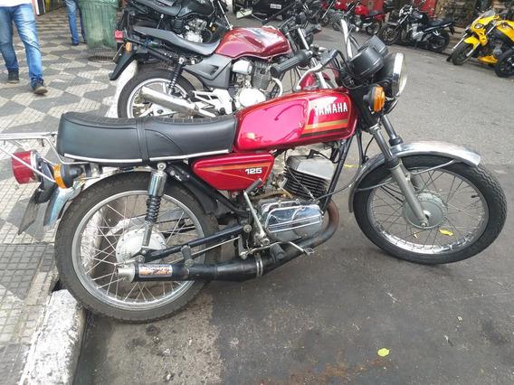 Yamaha Rx 125 1983 Vermelha Placa Preta