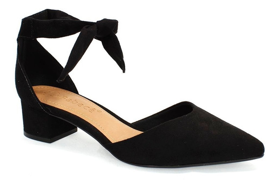 Sapato Feminino Camurça Suede Bebecê Preto