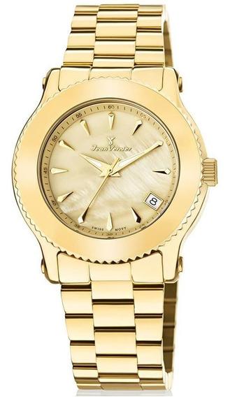 Relógio Jean Vernier Feminino Ref: Jv1023 Luxo Dourado