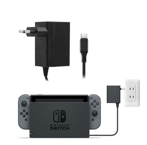 Imagen 1 de 2 de Cargador Nintendo Switch Compatible Con Dock Jys Enchufe