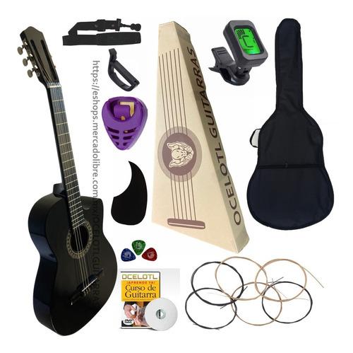 Imagen 1 de 5 de Guitarra Acústica Curva Ocelotl Paquete Vital De Accesorios