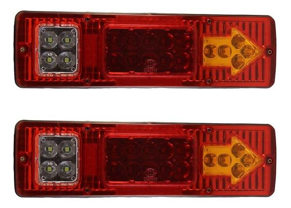 Par Lanternas Led Caminhão Carreta Baú Truck Tanque 24v