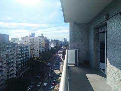 Excelente Apartamento Piso 10 Con Terraza 2 Dorm 2 Banos