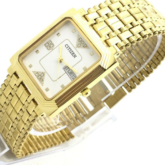 Reloj Citizen Cuarzo Vintage Chapa De Oro
