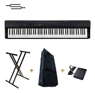 Piano Casio Privia Px160 88 Teclas Peso + Soporte + Funda